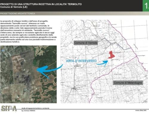 Progetto di una struttura ricettiva in località Termolito, Comune di Vernole (LE)