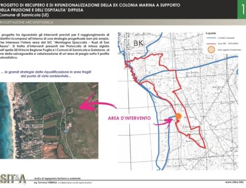 Recupero e di rifunzionalizzazione della ex Colonia Marina, Comune di Sannicola (LE)